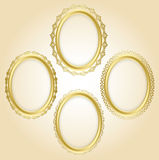 Beautiful gold oval decorative frames - set - eps Royalty Free Stock Photography