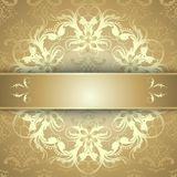Beautiful gold pattern Stock Images