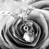 Beautiful gold pendant with big gem Stock Images