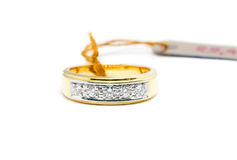 Beautiful Gold ring with diamond isolated Royalty Free Stock Images