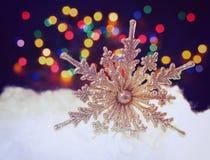 Beautiful gold snowflakes Royalty Free Stock Image