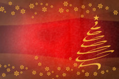 Beautiful gold spiral Christmas tree on festive Royalty Free Stock Photos