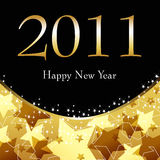 Beautiful gold starry New Year's Illustration Stock Images