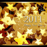 Beautiful gold starry New Year's Illustration. Vector beautiful gold starry New Year's Illustration Stock Image