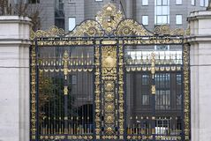 Beautiful goldem gates Royalty Free Stock Image