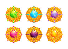 Beautiful golden amulets Royalty Free Stock Photo