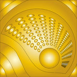 Beautiful golden background. With circles Stock Image