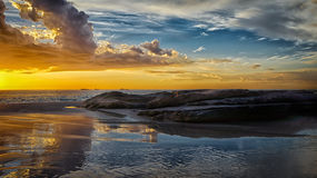 Beautiful golden Beach at Sunset Perth Australia. Beach at  Sunset  Perth Australia Royalty Free Stock Image