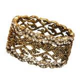 Beautiful golden bracelet Stock Photo