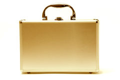 Beautiful Golden Briefcase Royalty Free Stock Photos