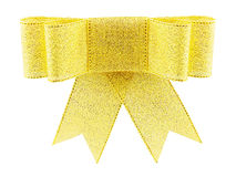 Beautiful golden brocade gift bow Stock Photo