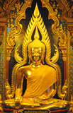 Beautiful golden Buddha, golden lord Buddha statue. Beautiful golden lord Buddha statue stock images