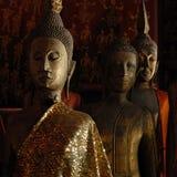 Beautiful Golden Buddha in luangprabang museum ,Laos Royalty Free Stock Photography