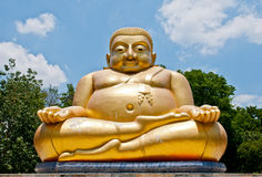 Beautiful Golden Buddha Statue Stock Image