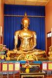 Buddha statue in Buddhist temple. The beautiful Golden Buddha statue in Buddhist temple Royalty Free Stock Photography