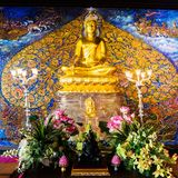 Beautiful golden Buddha. In thailand Stock Photography