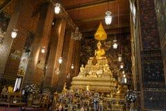 Beautiful golden Buddha Stock Image