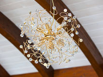 Beautiful golden chandelier Royalty Free Stock Images