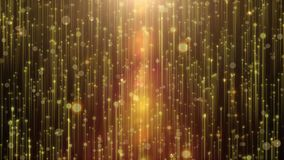 Beautiful golden curtain abstract background with particle rain