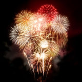 Beautiful Golden Fireworks Display Stock Photo