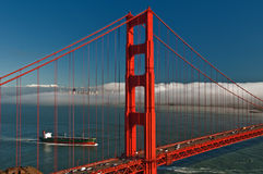 Beautiful golden gate bridge in san francsico Stock Photos