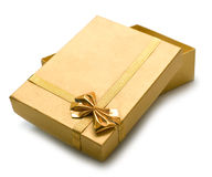 Beautiful golden gift Stock Photography
