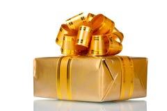 Beautiful golden gift Stock Photos