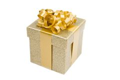 Beautiful golden gift Stock Image