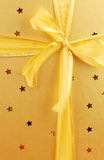Beautiful golden gift box Royalty Free Stock Image