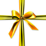 Beautiful and golden gift ribbon Stock Images