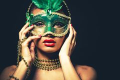 Beautiful golden glamour woman Royalty Free Stock Image