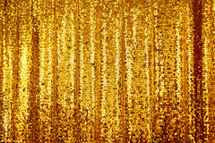 Beautiful golden glitter background Stock Photography