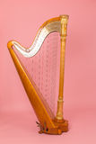 Beautiful golden harp Royalty Free Stock Image