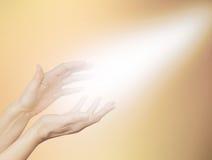 Beautiful Golden Healing Energy Royalty Free Stock Photos