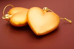 Beautiful golden hearts Royalty Free Stock Photography
