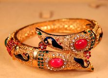Beautiful Golden Indian bracelet Royalty Free Stock Image