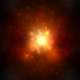 Beautiful golden lights background with many brightness. Bright abstract blurred lights vector background. Stock Image