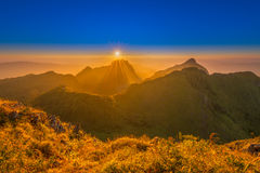 Beautiful Golden Mountain. Beautiful Golden  mountains at Doi Luang Chiang Dao, Chiang Mai, Thailand Royalty Free Stock Photography