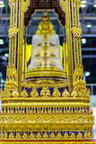 Beautiful golden movable throne contained the Buddha relics ensh Stock Images