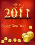 Beautiful golden new year card Stock Images