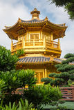 Beautiful Golden Pagoda Chinese style architecture in Nan Lian G Stock Photography