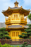 Beautiful Golden Pagoda Chinese style architecture in Nan Lian G Stock Image