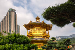 Beautiful Golden Pagoda Chinese style architecture in Nan Lian G Royalty Free Stock Image