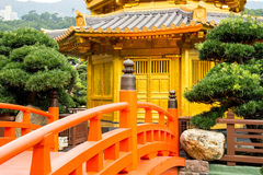 Beautiful Golden Pagoda Chinese style architecture in Nan Lian G Royalty Free Stock Photography