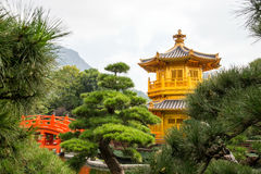 Beautiful Golden Pagoda Chinese style architecture in Nan Lian G Royalty Free Stock Photo