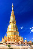 Beautiful golden pagoda under deep blue sky Royalty Free Stock Image