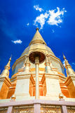 Beautiful golden pagoda under deep blue sky Royalty Free Stock Photography