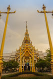 Beautiful golden pagoda at Wat Sothonwararam, a famous public te. Mple in Chachoengsao Province, Thailand Royalty Free Stock Photos