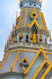 Beautiful golden pagoda of Wat Sothorn, the most popular religio. N traveling destination at Chachengsao, Thailand Royalty Free Stock Photos