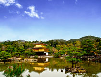 Beautiful golden pavilion with blue sky 1 Stock Images